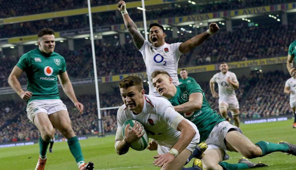 Inglaterra venció a Irlanda en la primera fecha del Seis Naciones. Foto: AFP.