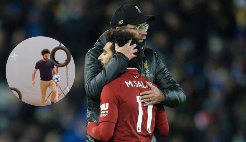 Lo que hizo Salah en el backstage es increíble. Foto: Salah (Twitter) / Archivo El País
