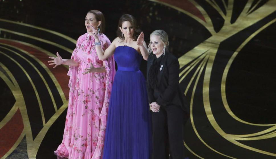 Maya Rudolph, Tina Fey y Amy Poehler. Foto: Reuters
