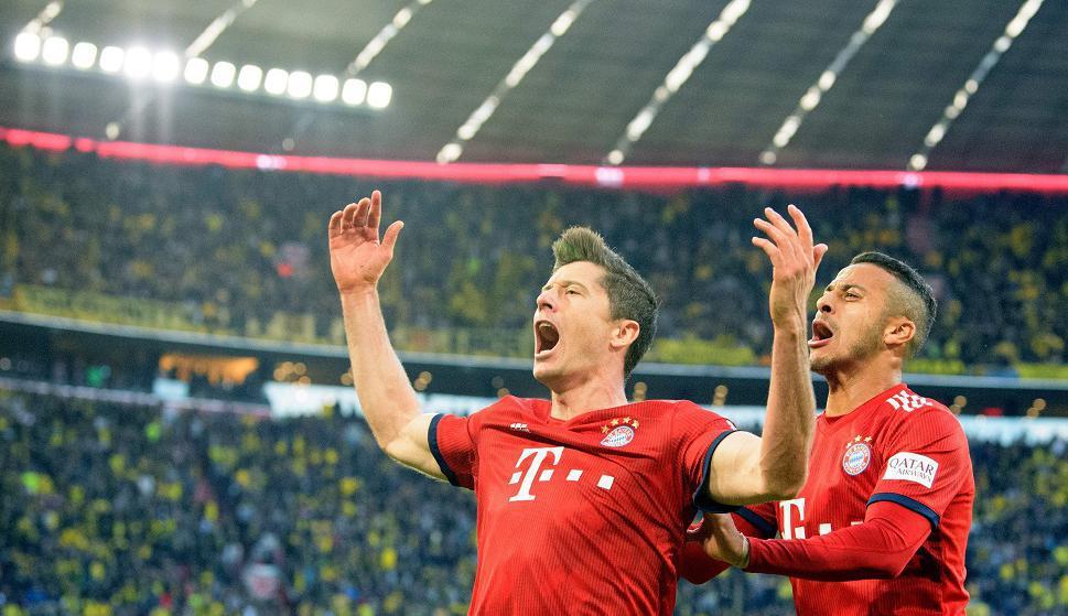 Robert Lewandowski y Thiago Alcántara en el Bayern Munich