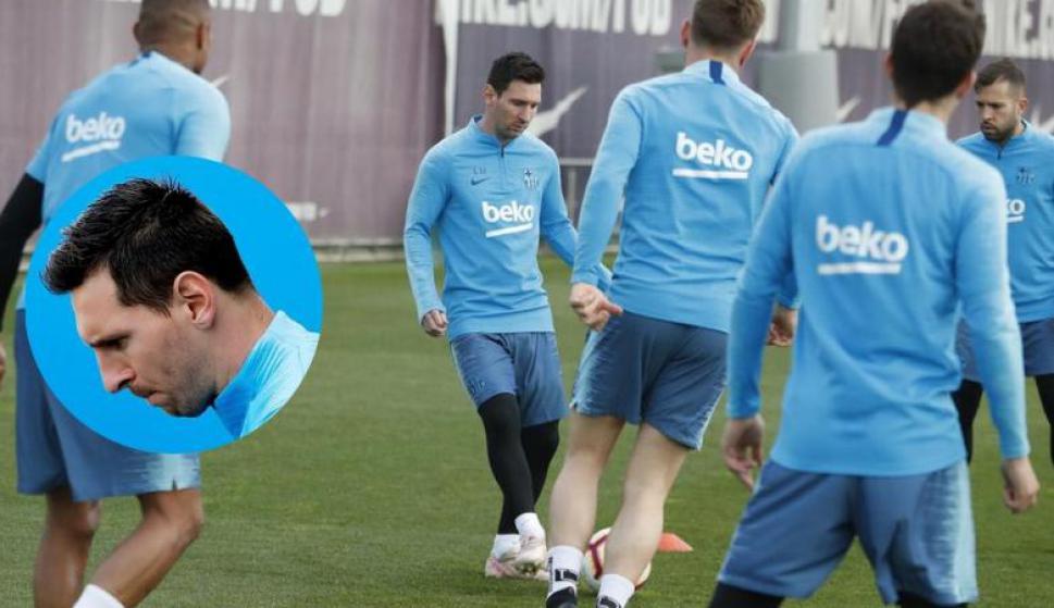 El Barcelona mostró cómo es ser Messi durante un entrenamiento. Fotos: EFE y @FCBarcelona