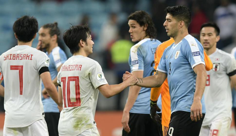 Luis Suárez en el Uruguay vs. Japón
