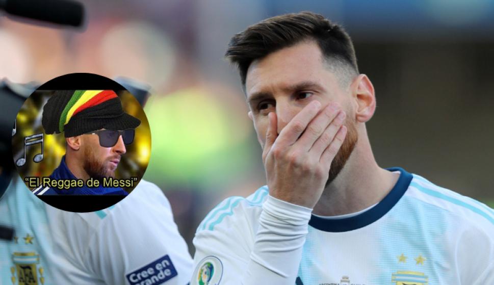 Hicieron un reggae con las declaraciones de Messi en la Copa América. Fotos: Lucas Requena y Reuters