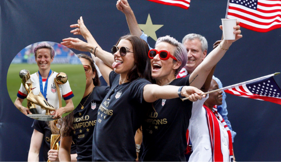 Megan Rapinoe y un notable discurso tras ser campeona del mundo. Fotos: EFE