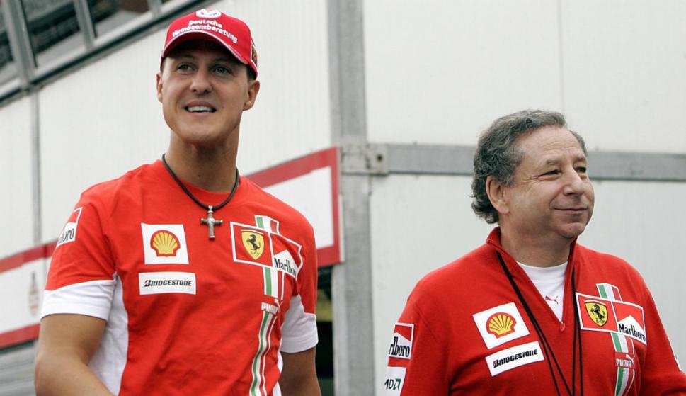 Michael Schumacher y Jean Todt. Foto: Archivo El País