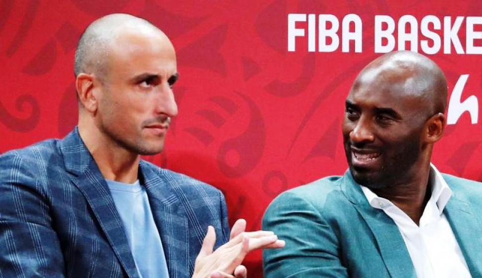 Manu Ginóbili y Kobe Bryant