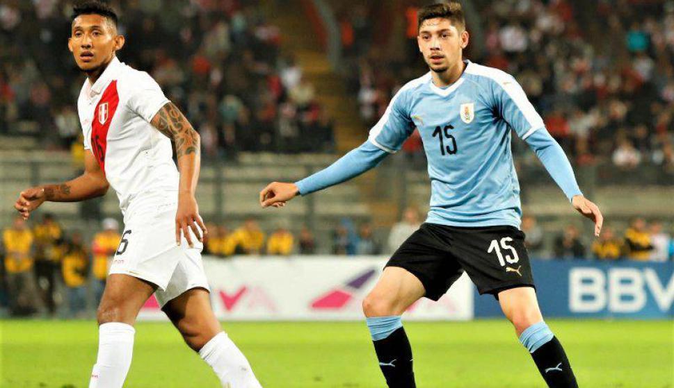 Federico Valverde - Uruguay vs. Perú. Foto: @Uruguay