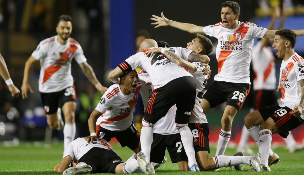 Alegría. La de todo el plantel de River Plate por acceder a una nueva final de la Copa Libertadores eliminando a Boca. Foto: Reuters.