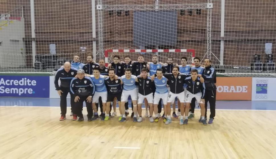 La selección Uruguaya no pudo jugar la Copa América pero disputó amistosos en Chile. Foto: Pasión por el Futsal (Chile)