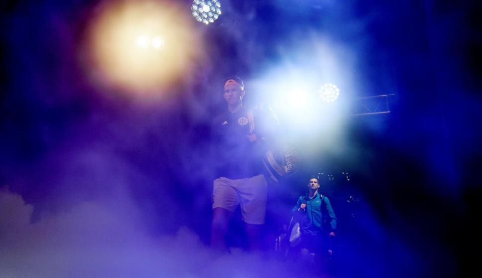 Dominic Thiem y Novak Djokovic en el ATP Finals