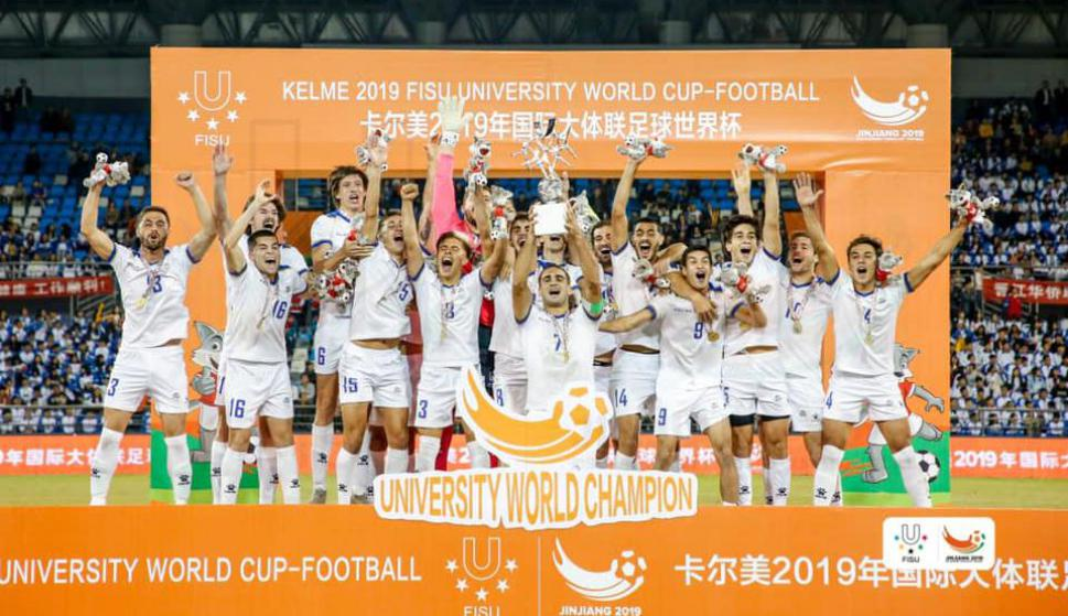 Uruguay campeón del Mundo en fútbol universitario en China 2019 - Mundial de Universidades de FISU - Udelar por la Liga Universitaria