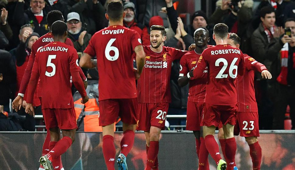 Liverpool derrotó 5 a 2 a Everton por Premier League. Foto: AFP.