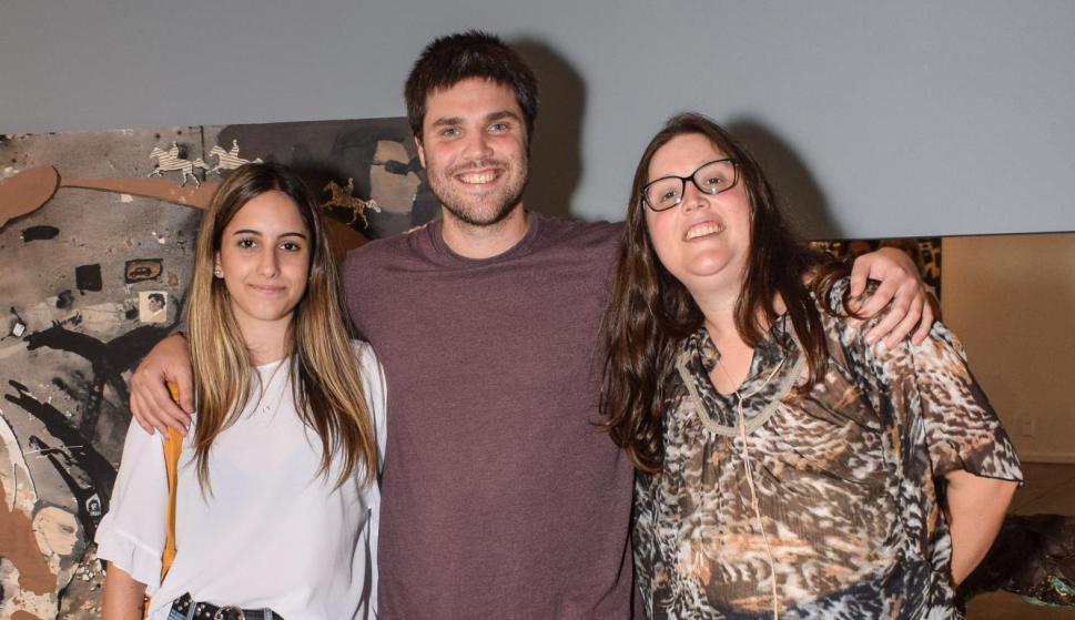 Eugenia Fraga, Agustín y Malena Orazietti.