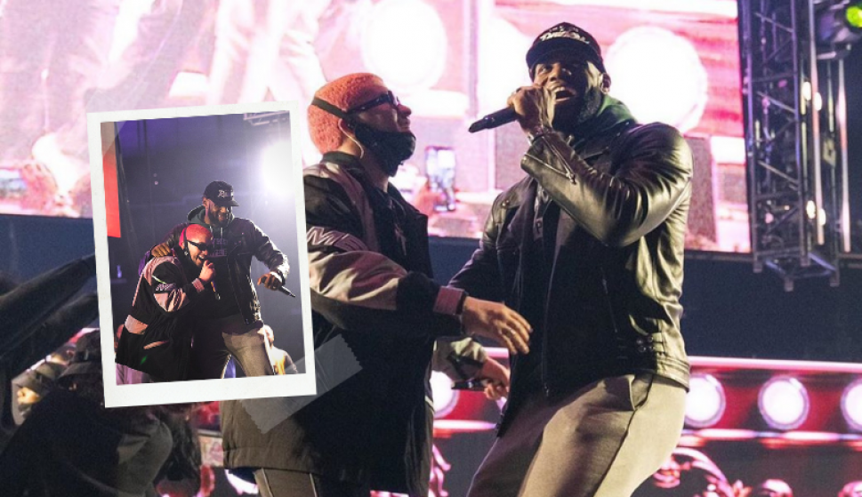 El video viral de LeBron James bailando en el escenario junto a Bad Bunny. Fotos: @KingJames