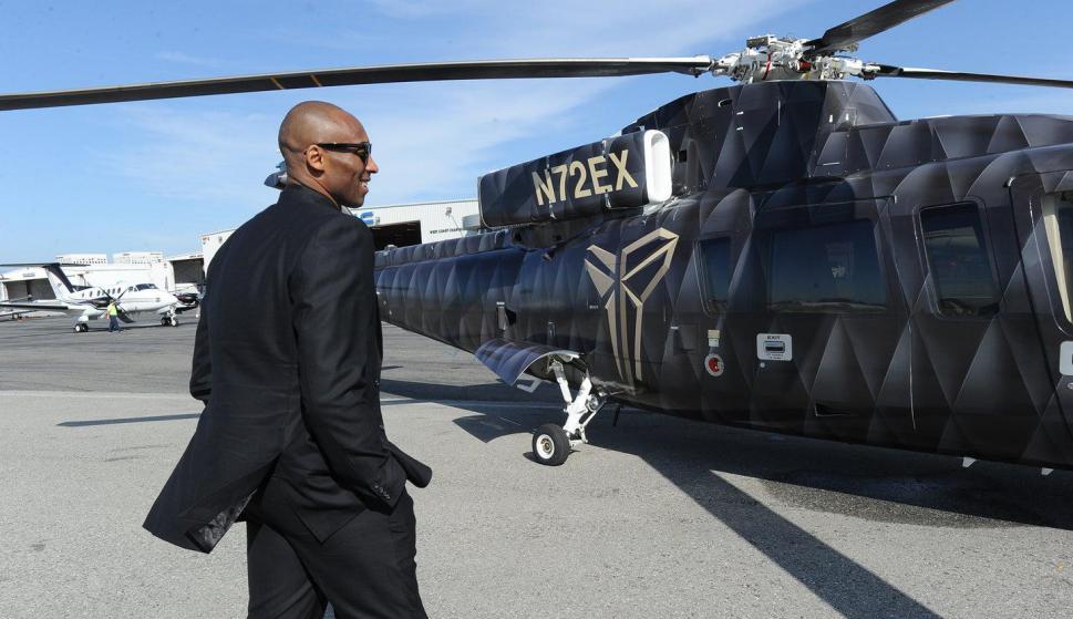 "Kobe Bryant y el 'Mamba Choper"", su helicóptero. Foto: The Players Tribune"