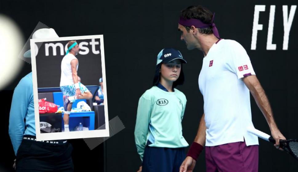 """Abierto de Australia: una alcanzapelotas """"ayudó"""" a Federer a ganar el partido. Fotos: EFE"""