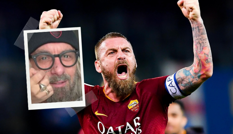 El cambio de look de Daniele De Rossi para poder ir a ver Roma - Lazio. Fotos: Captura y Archivo