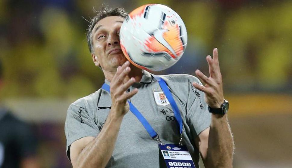 Gustavo Ferreyra durante el juego entre Uruguay y Argentina en el Preolímpico Sub 23 de Colombia. Foto: Reuters.