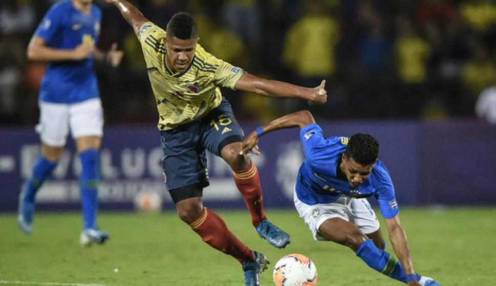 Brasil y Colombia empataron en un tanto por bando en el Preolímpico