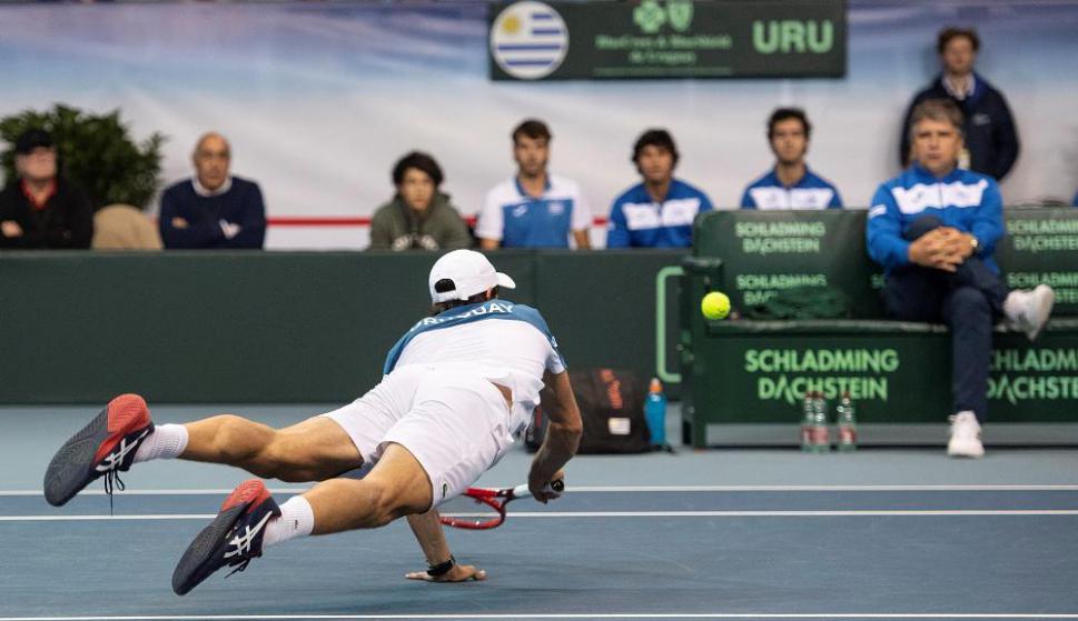 Pablo Cuevas en la Copa Davis con Uruguay