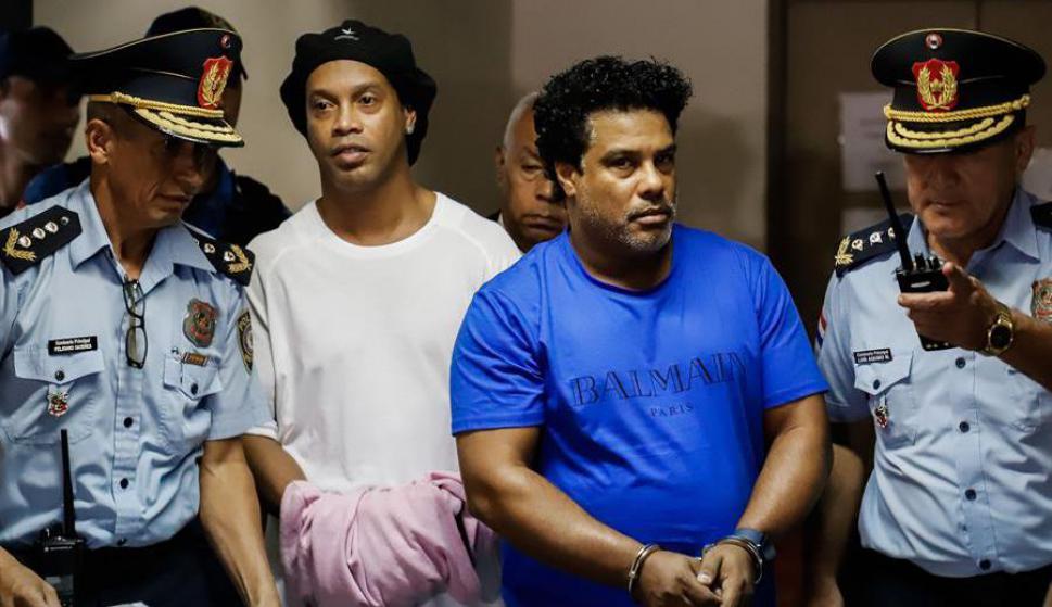 Volvieron a detener a Ronaldinho y su hermano en Paraguay . Foto: EFE