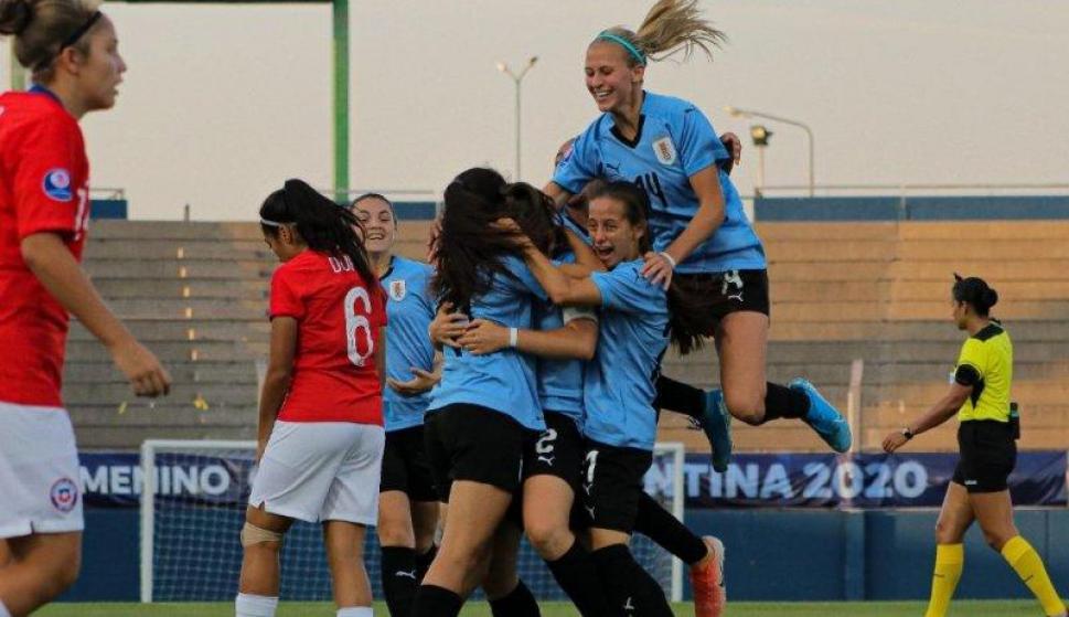 Sudamericano Sub 20 femenino - Uruguay vs. Chile. Foto: @AUFfemenino.