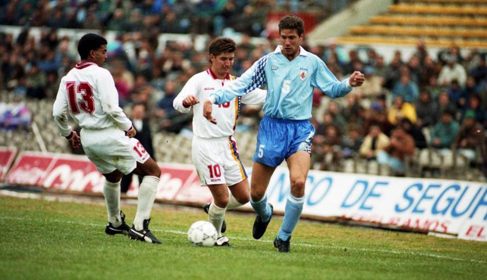 Álvaro Gutiérrez en el Uruguay-Venezuela de 1993