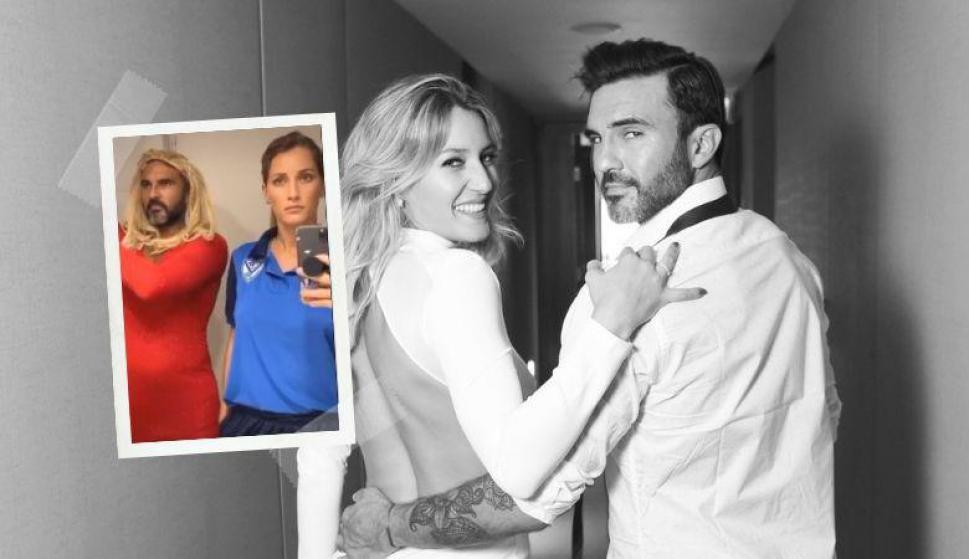 La desopilante e inesperada broma de 'Poroto' Cubero y su novia Mica Viciconte. Fotos: @MicaViciconte