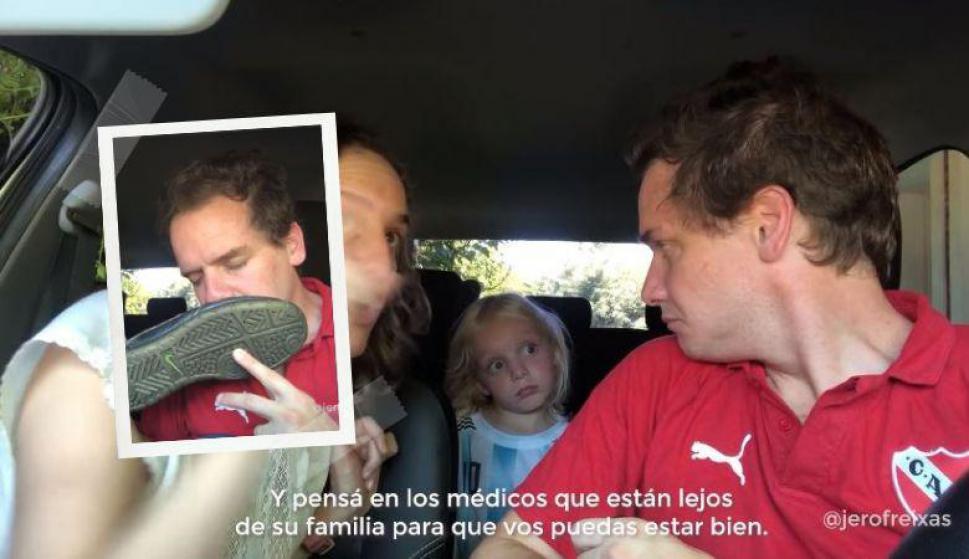 Cuando la cuarentena se mete con el fútbol: el desopilante video de Jero Freixas. Fotos: Captura