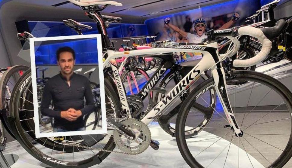 Alberto Contador hizo colapsar Ebay con una subasta. Foto: @acontadoroficial