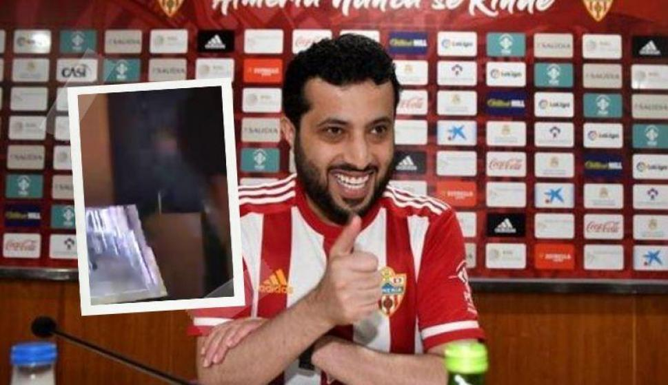 Turki Al-Sheikh, presidente de Almería, destrozó su televisor al perder en FIFA 20. Fotos: Captura y EFE