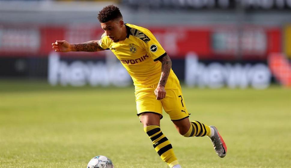 Así juega Jadon Sancho: la joya que dejó escapar el City y disfruta el Dortmund. Foto: EFE
