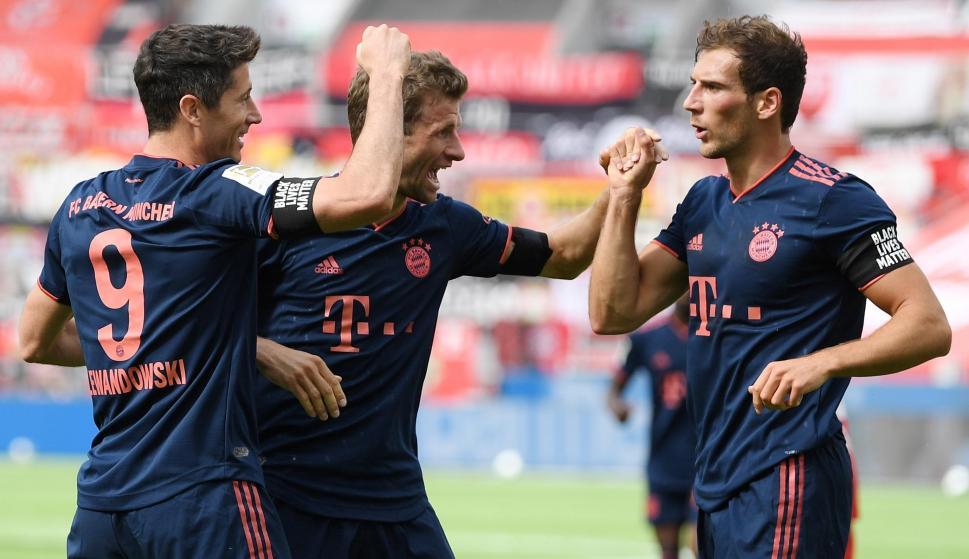 Los jugadores del Bayern Múnich celebrando uno de los goles del equipo. Foto: EFE.