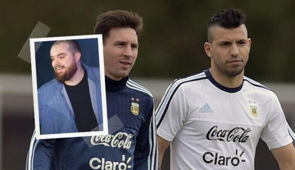 La broma de Messi y el 'Kun' Agüero al streamer español Ibai Llanos. Foto: EFE