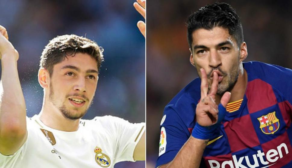 Federico Valverde y Luis Suárez