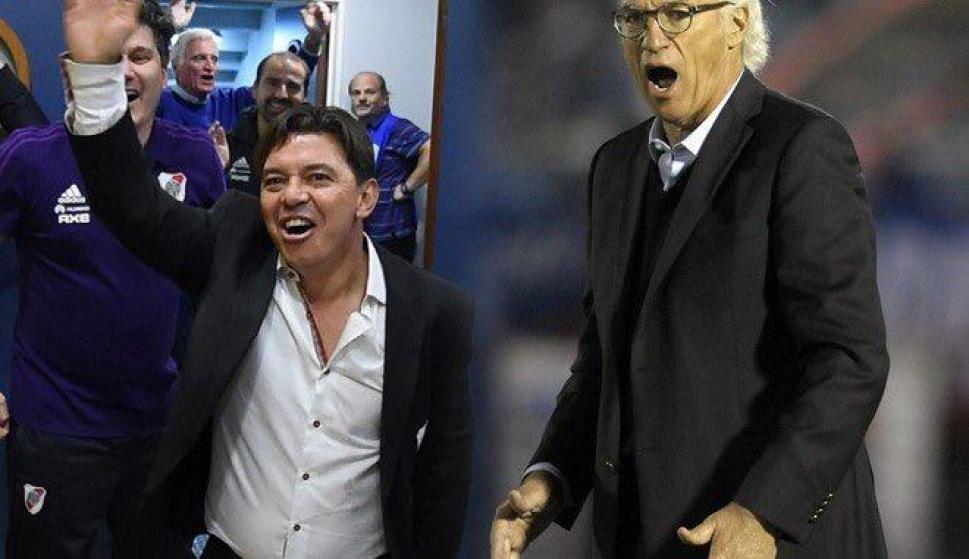 Marcelo Gallardo y Carlos Bianchi.