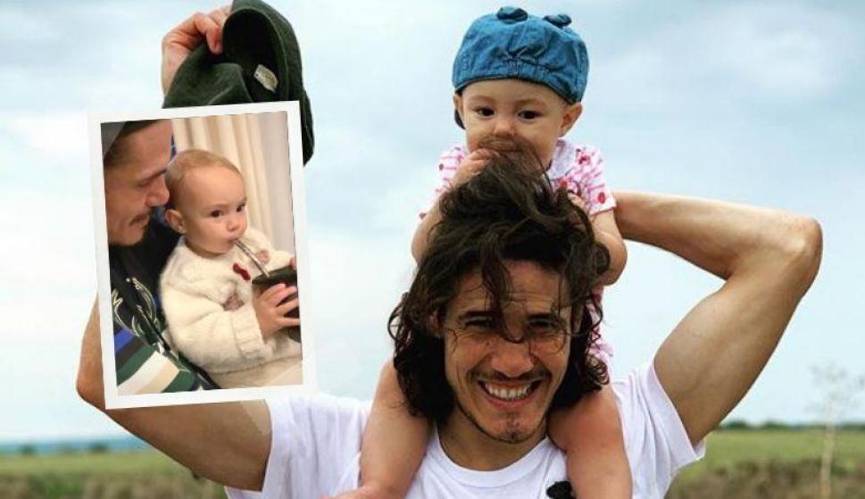 Mientras especulan con su futuro, Cavani disfruta un tierno momento de padre e hija. Foto: @cavaniofficial21