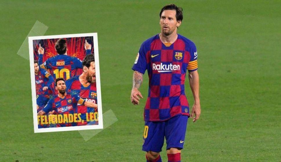 Los saludos más importantes para Messi en el día de su cumpleaños. Fotos: @FCBarcelona y AFP