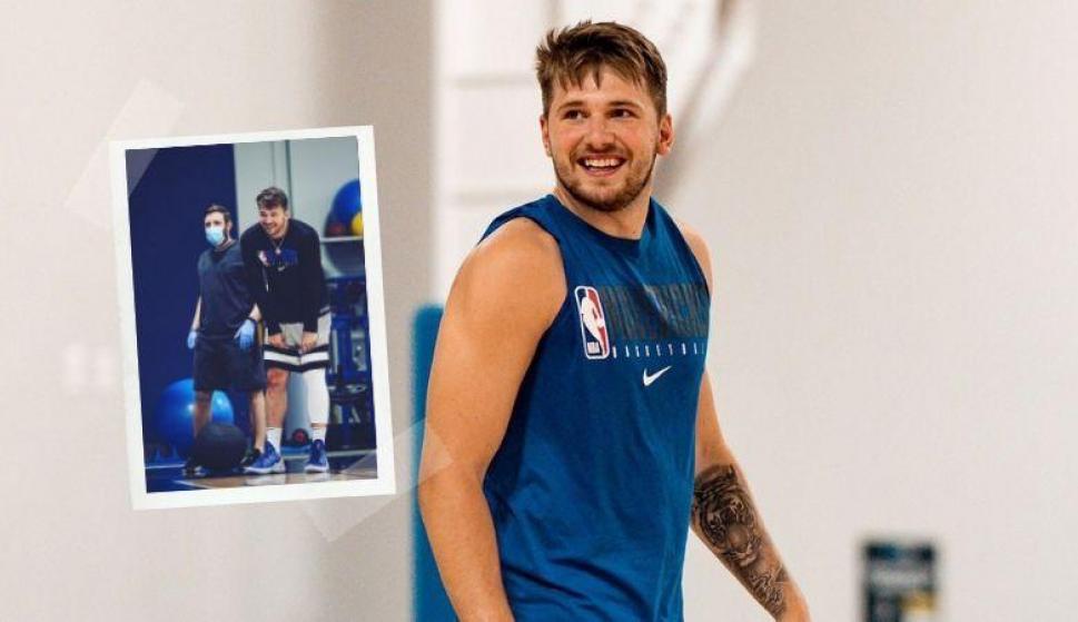 ¡De lo mejor del fin de semana! La magia de Luka Doncic en el entrenamiento. Fotos: @luka7doncic