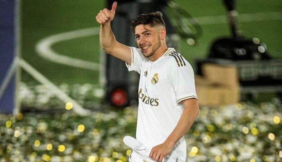 Federico Valverde tras la consagración del Real Madrid.