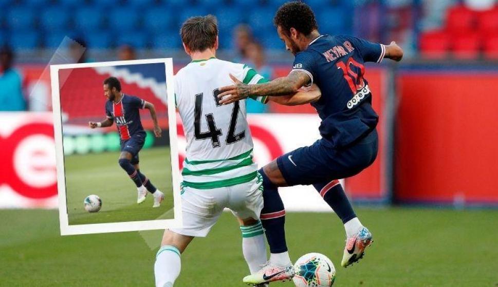 Volvió con todo: Neymar y las jugadas que enfurecieron al Celtic y su entrenador. Fotos: EFE