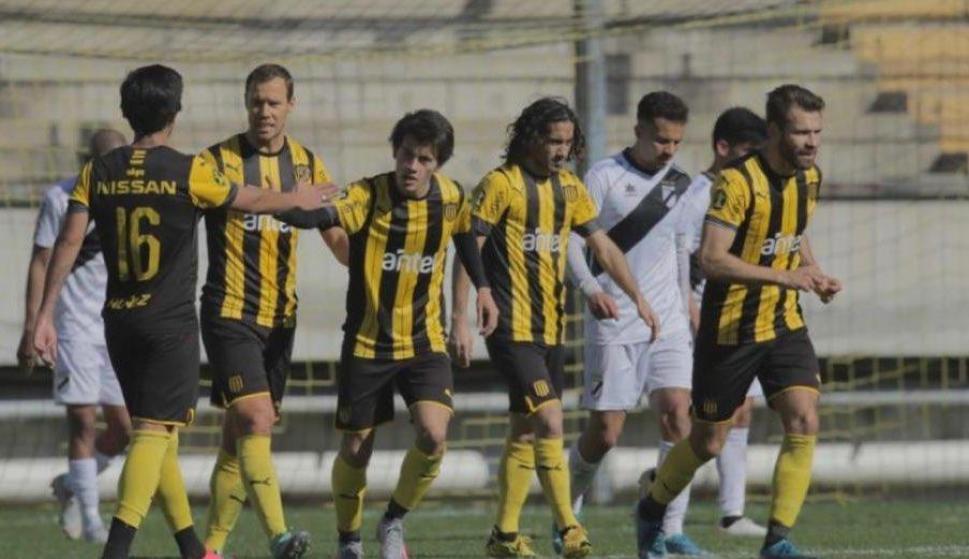 Facundo Pellistri anotó el gol de Peñarol frente a Danubio. Foto: @OficialCAP.