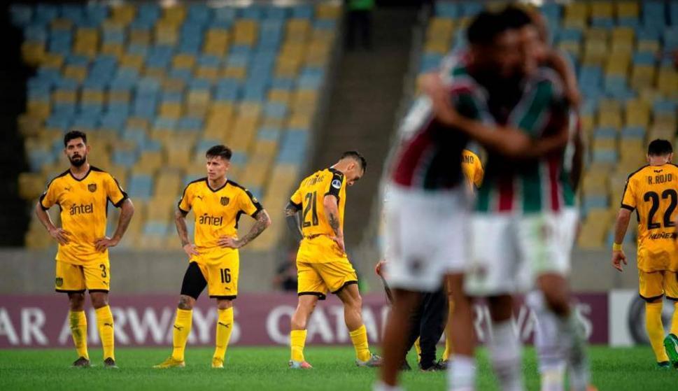 Peñarol eliminado por Fluminense en la Sudamericana 2019. Foto: EFE.