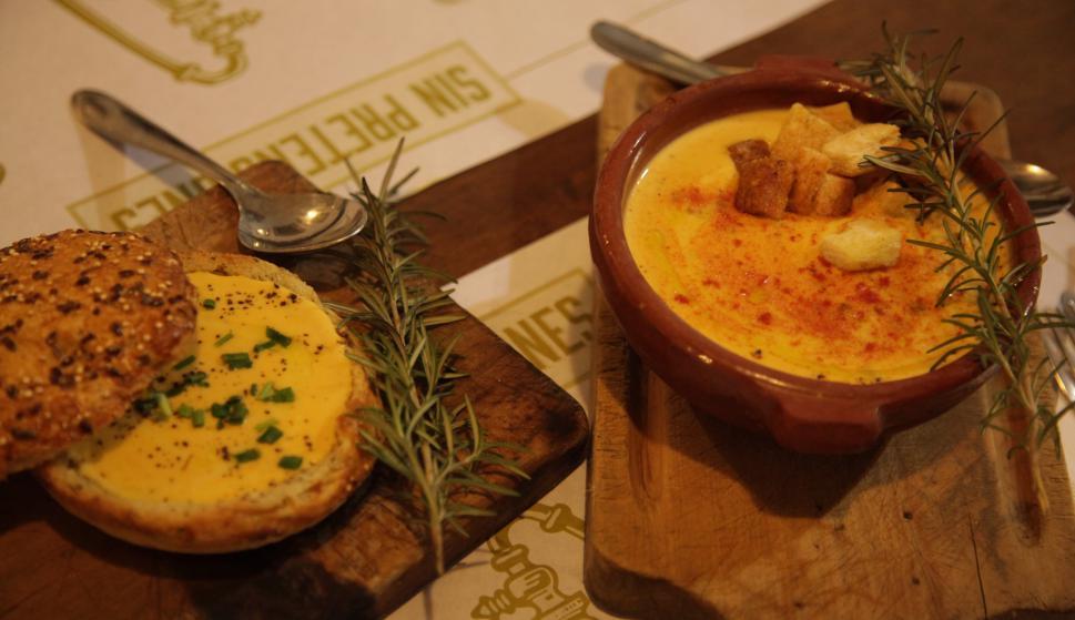 Sopa crema de zapallo criollo. Foto: Gabriel  Rodríguez