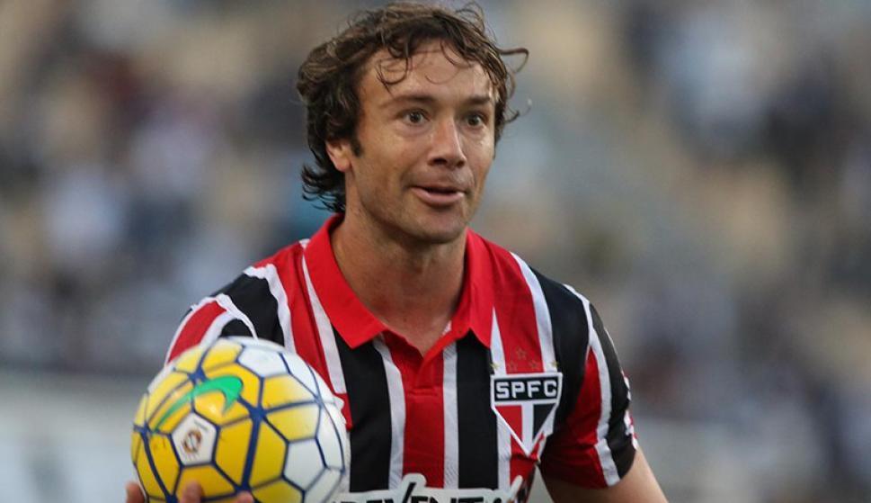 Diego Lugano en el partido de São Paulo. Foto: prensa São Paulo