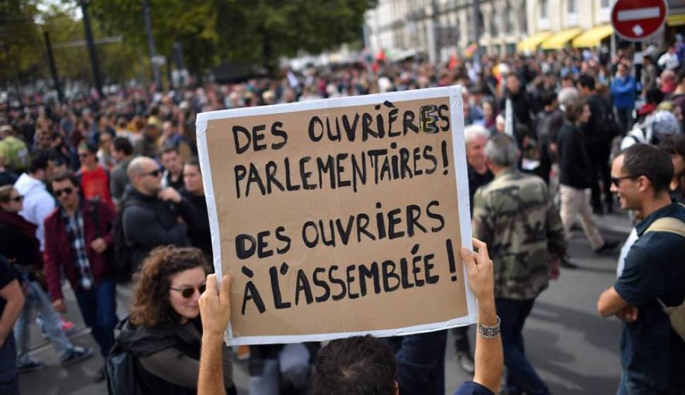 La reforma de Macron es criticada por varios sectores. Foto: AFP.