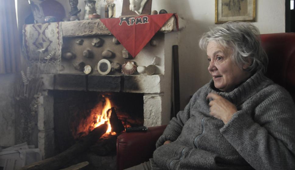 Lucía Topolansky en su casa de la chacra del cerro. Foto: Nicolás Pereyra