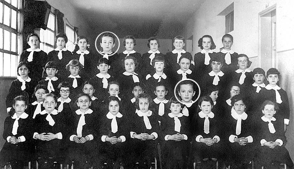 Lucía Topolansky en la escuela. Foto: Archivo El País
