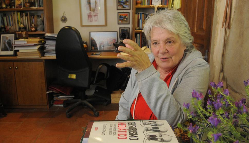 Lucía Topolansky en su casa. Foto: Archivo El País