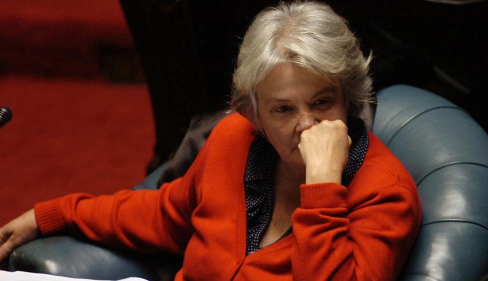 Lucía Topolansky como senadora. Foto: Archivo El País